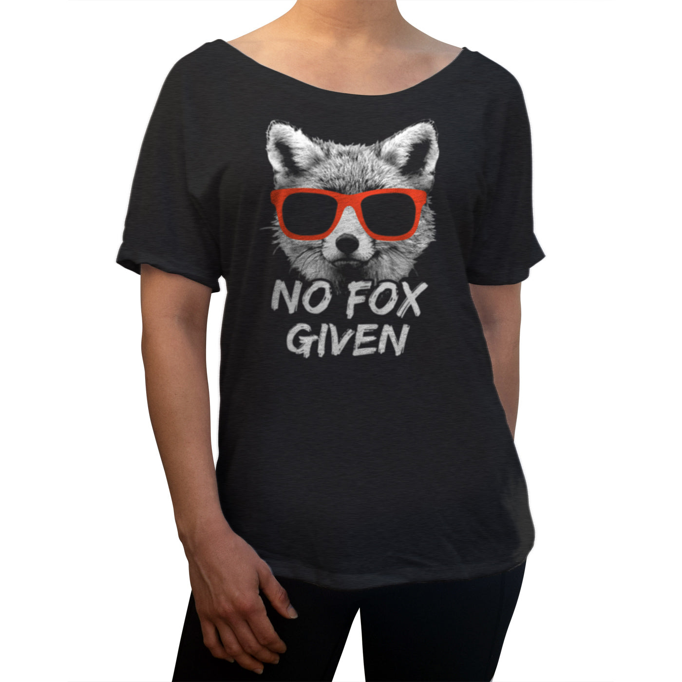 Women's No Fox Given Scoop Neck T-Shirt