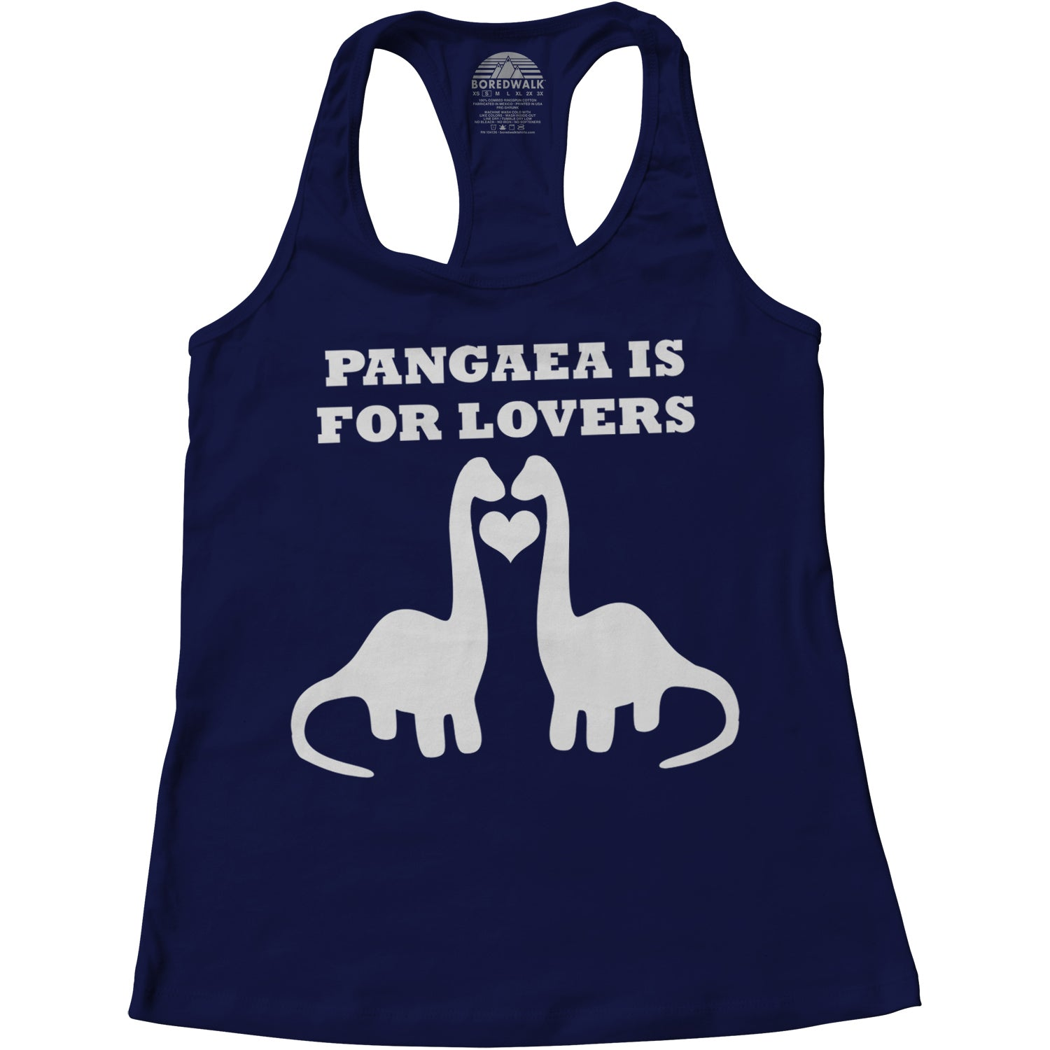 Women's Pangaea Is For Lovers Funny Dinosaur Racerback Tank Top