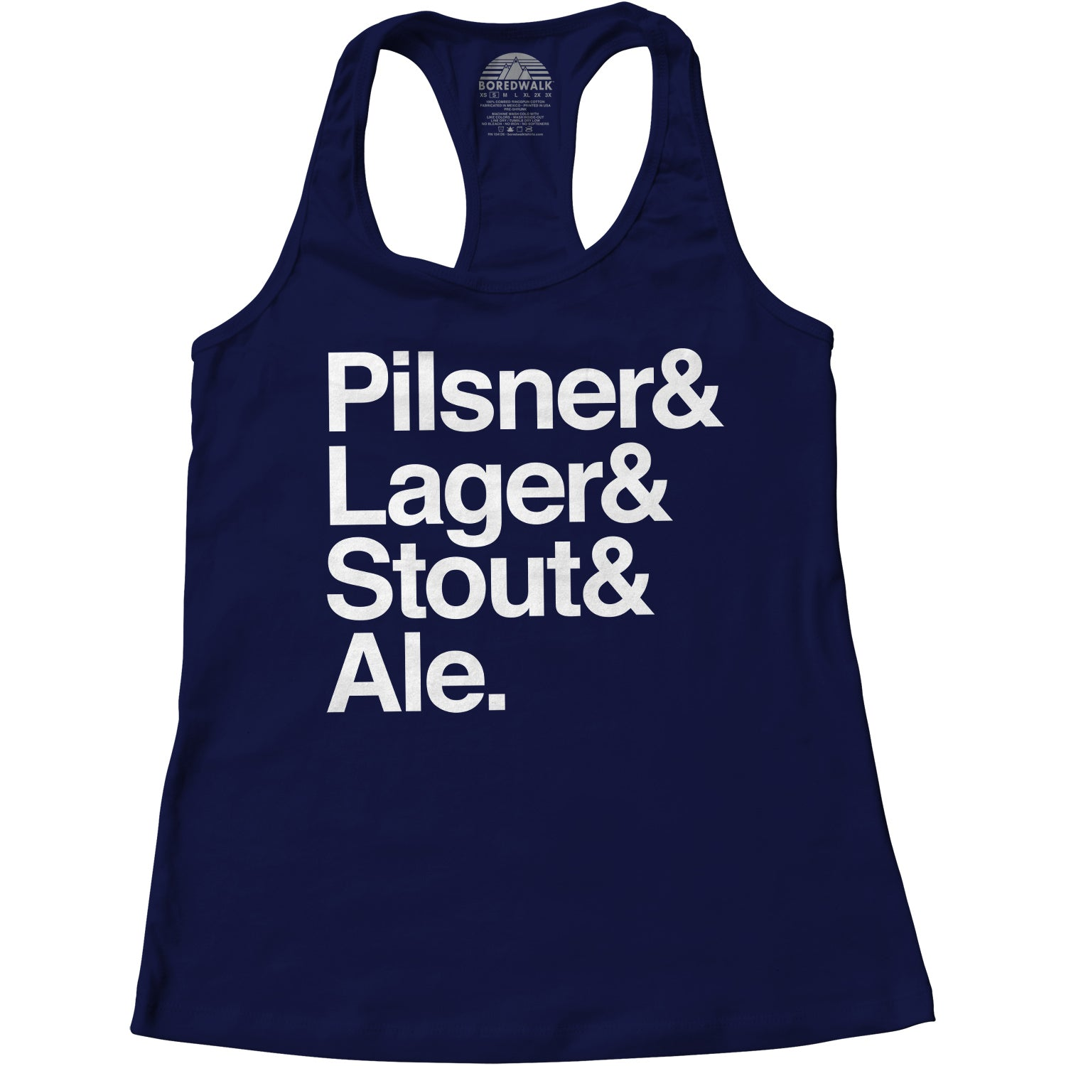 Women's Lager And Stout And Pilsner And Ale Beer Racerback Tank Top