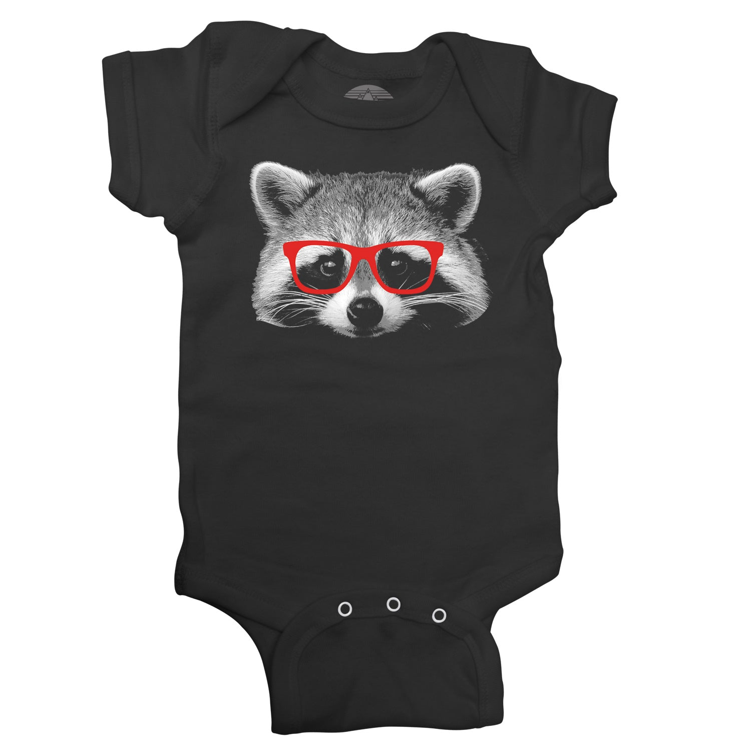 Glasses on a Raccoon Infant Bodysuit - Unisex Fit