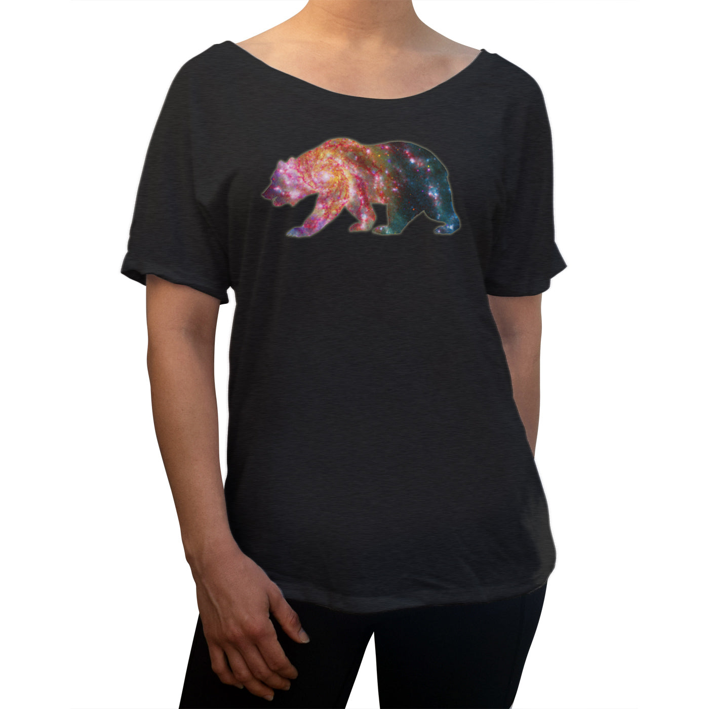 Women's Space Bear Scoop Neck T-Shirt