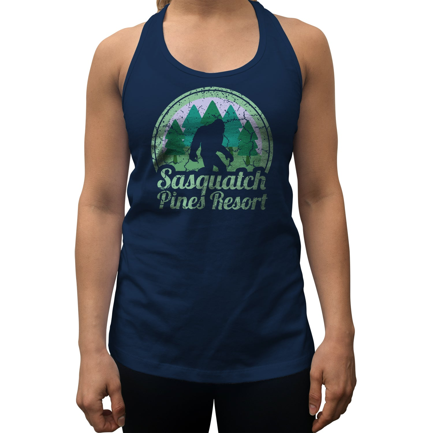 Women's Sasquatch Pines Resort Racerback Tank Top