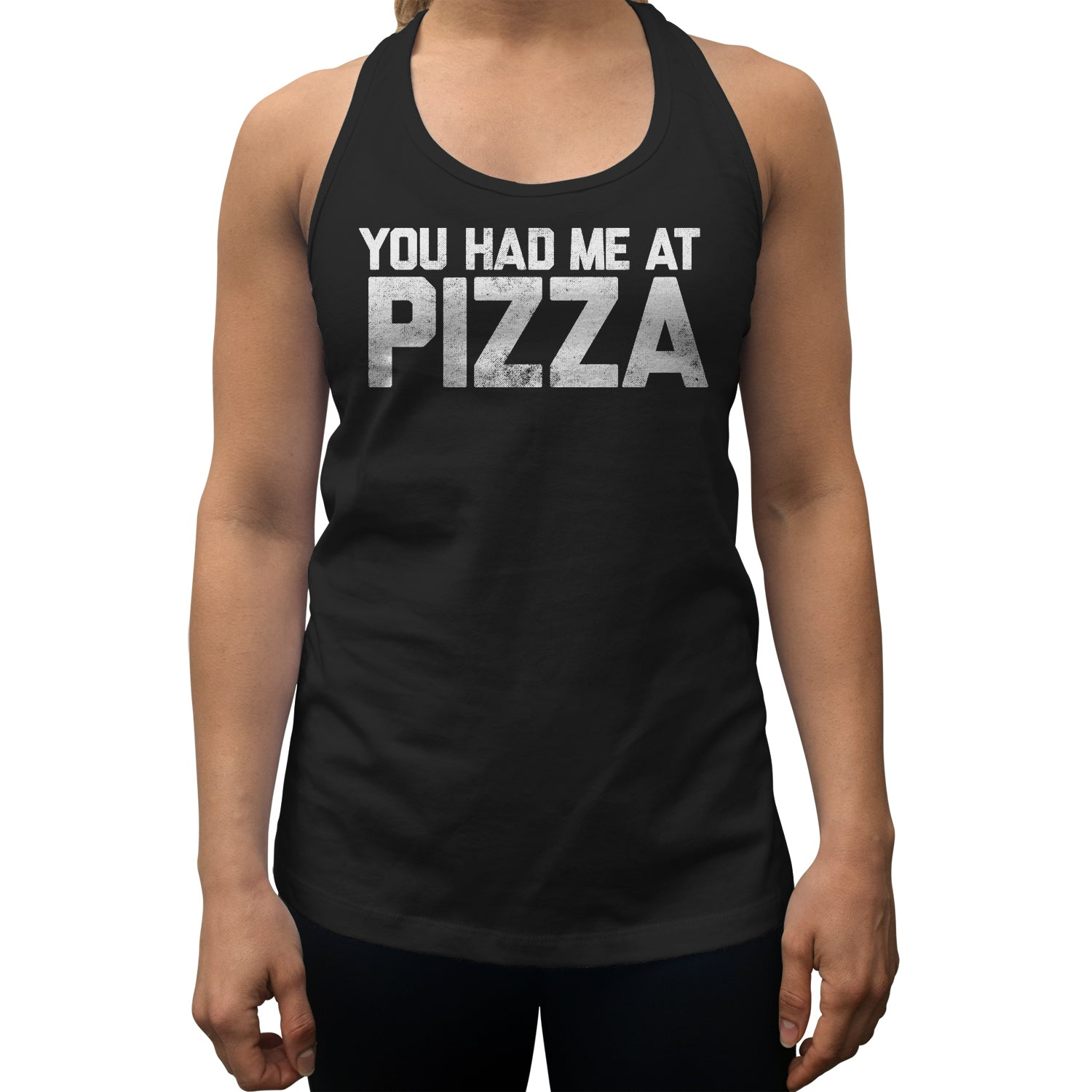 Women's You Had Me at Pizza Racerback Tank Top