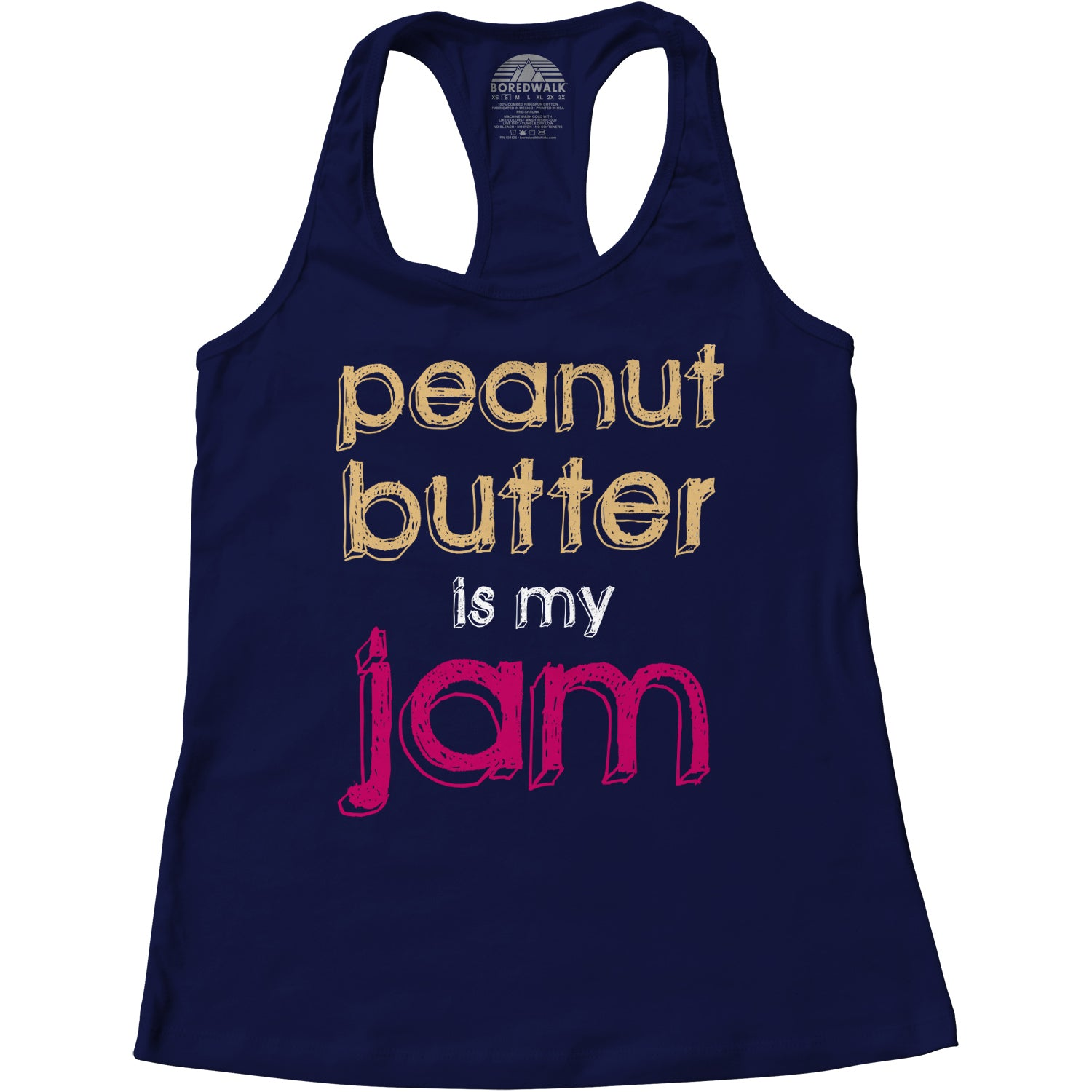 Women's Peanut Butter is My Jam Racerback Tank Top