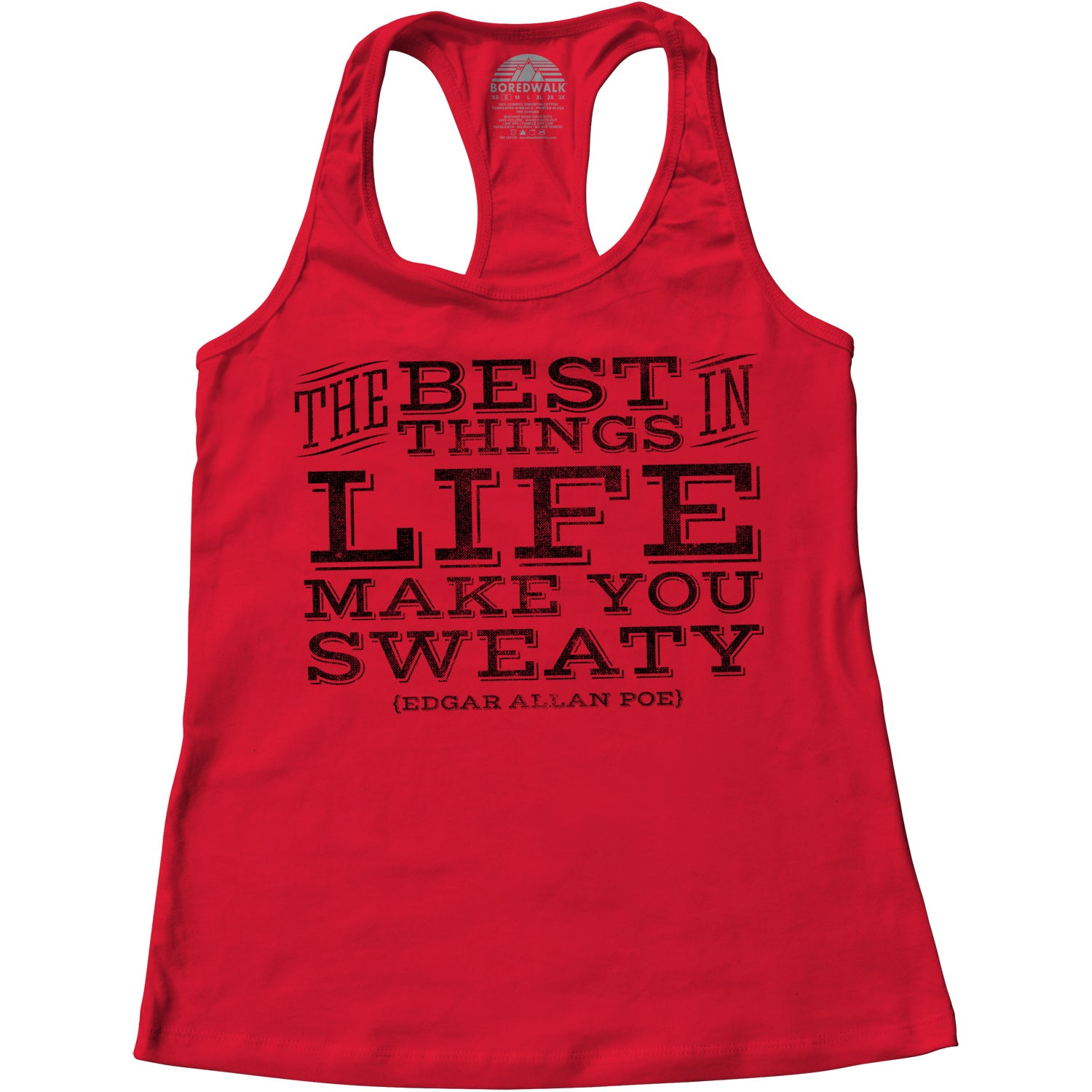 Women's The Best Things In Life Make You Sweaty Edgar Allen Poe Racerback Tank Top