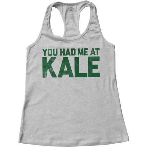 Women's You Had Me at Kale Foodie Racerback Tank Top