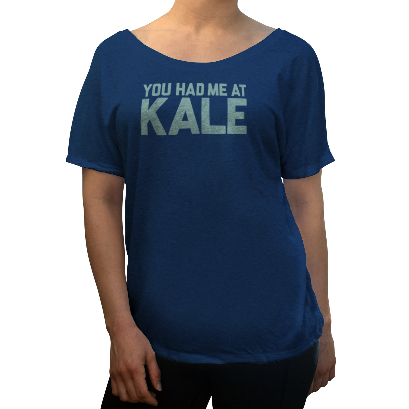 Women's You Had Me at Kale Foodie Scoop Neck T-Shirt