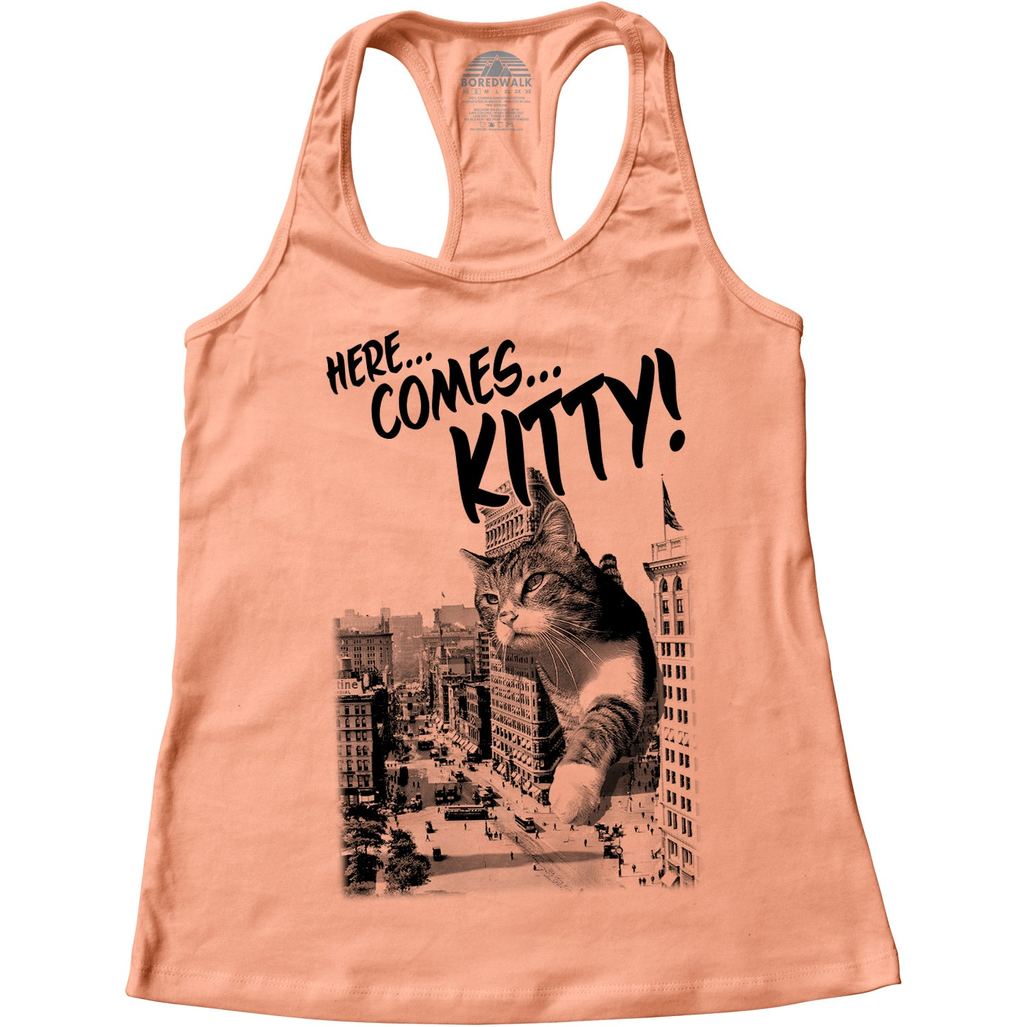 Women's Here Comes Kitty Racerback Tank Top
