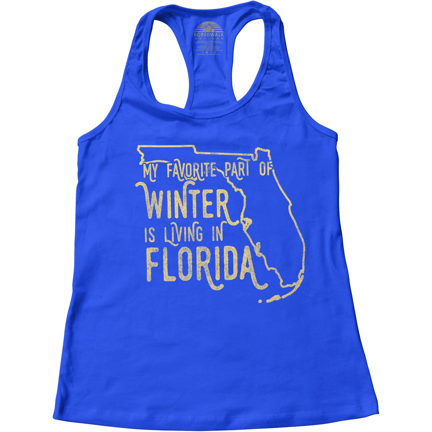 Women's My Favorite Part of Winter is Living in Florida Racerback Tank Top