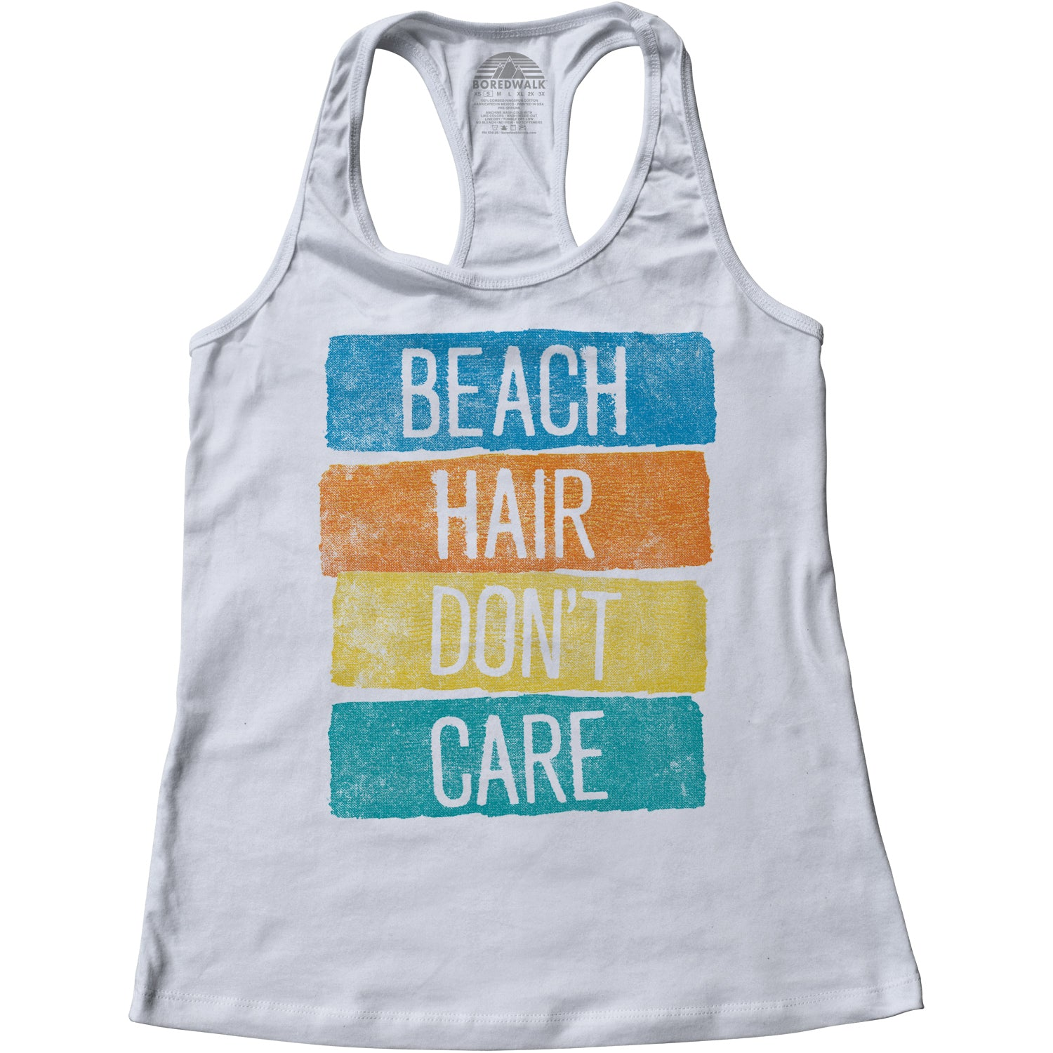 Women's Beach Hair Don't Care Racerback Tank Top