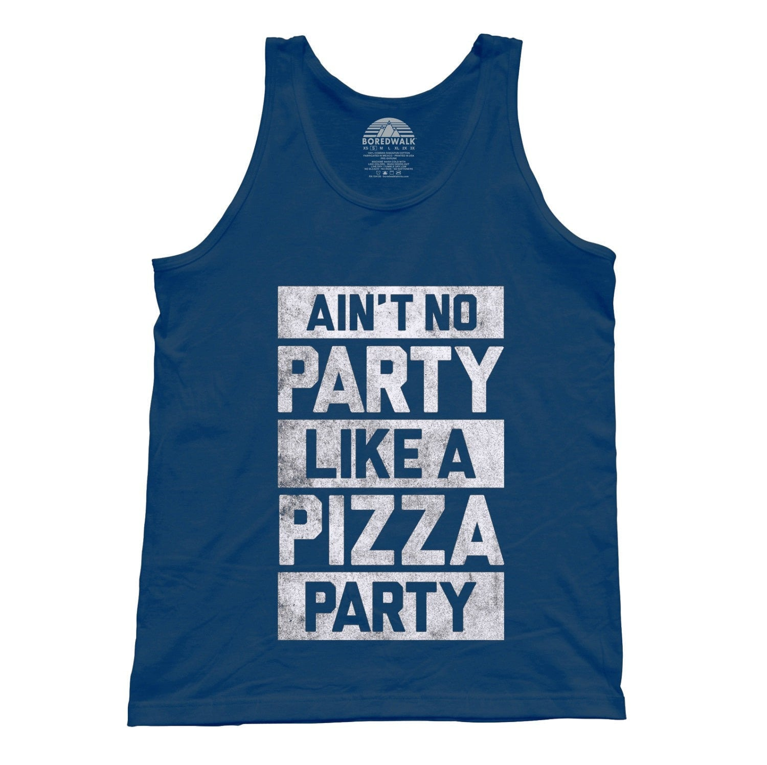 Unisex Ain't No Party Like a Pizza Party Tank Top