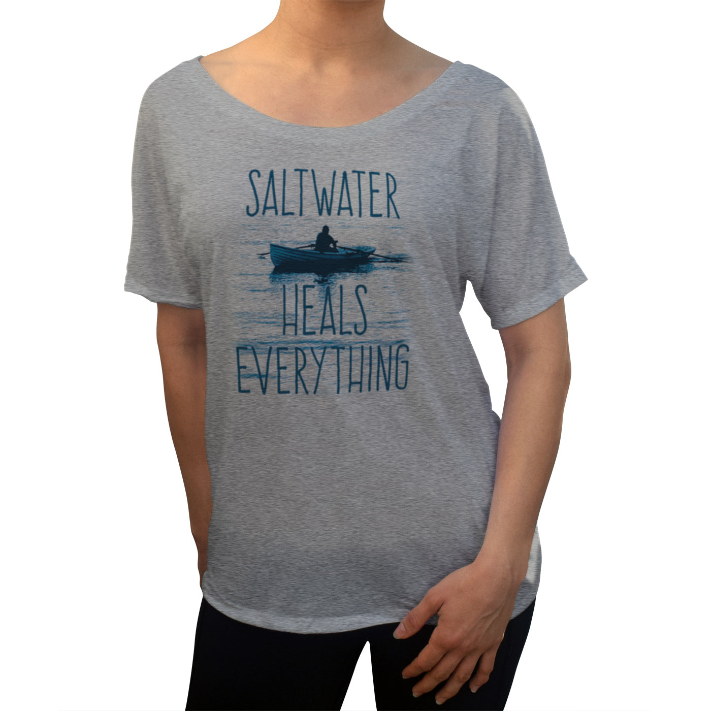 Women's Saltwater Heals Everything Scoop Neck T-Shirt