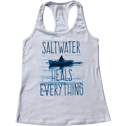 Women's Saltwater Heals Everything Racerback Tank Top
