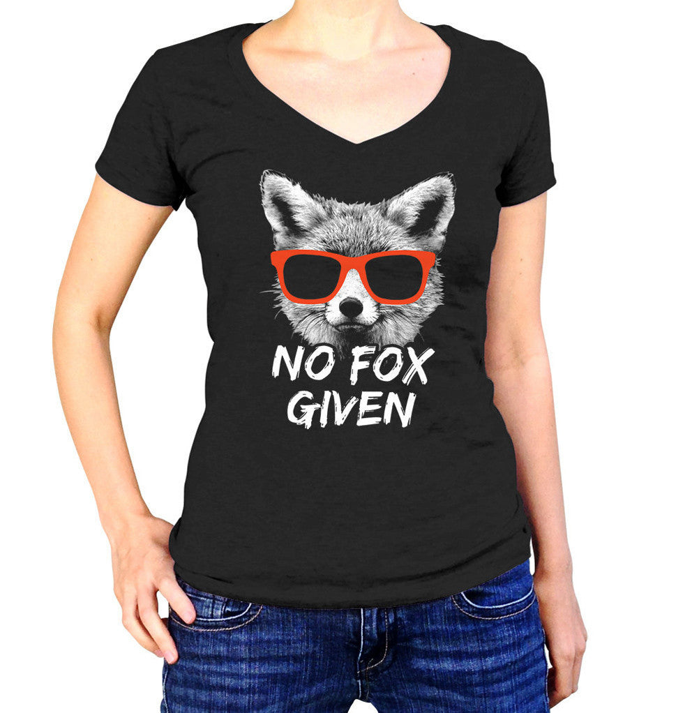 Women's No Fox Given Vneck T-Shirt