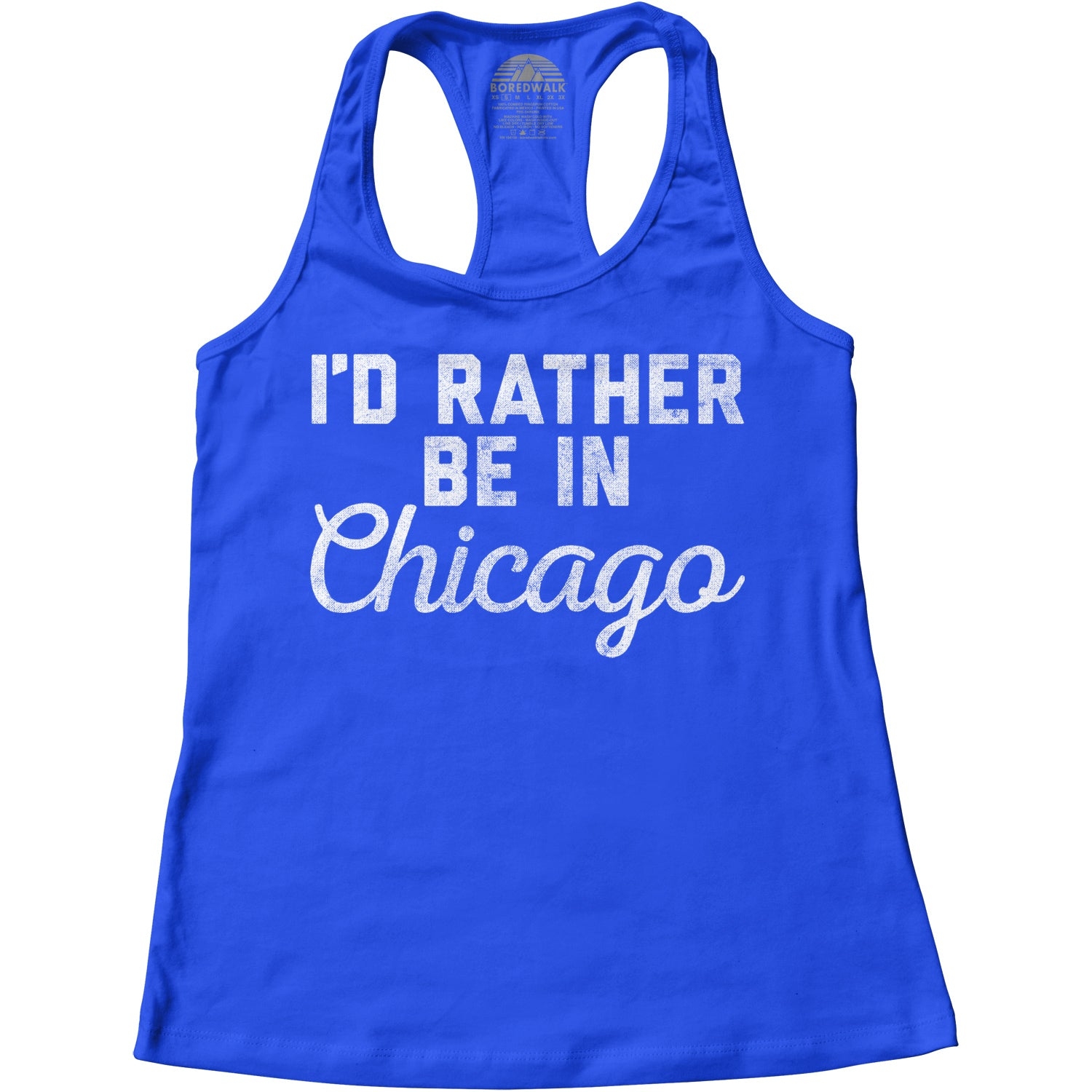 Women's I'd Rather Be in Chicago Racerback Tank Top