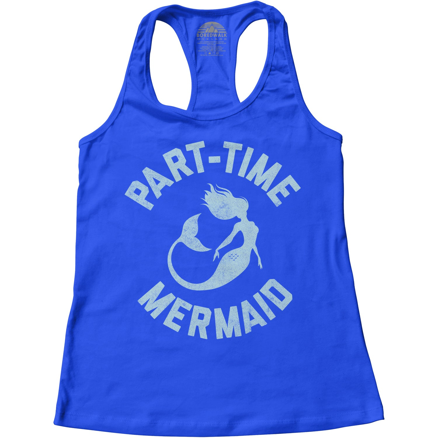 Women's Part Time Mermaid Racerback Tank Top