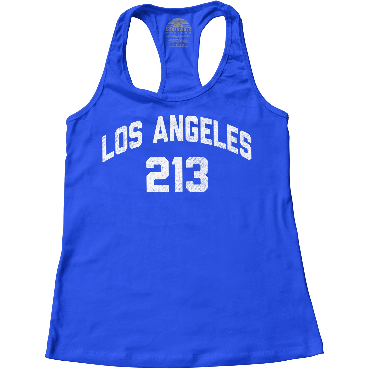 Women's Los Angeles 213 Area Code Racerback Tank Top