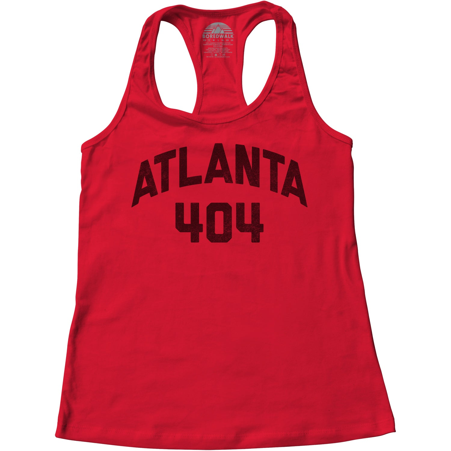 Women's Atlanta 404 Area Code Racerback Tank Top