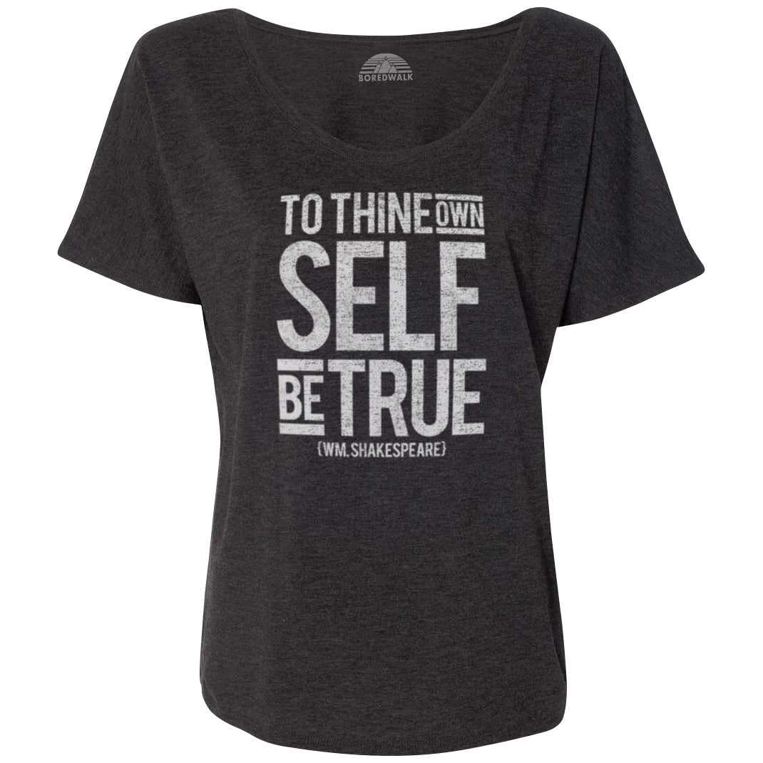 Women's To Thine Own Self be True Hamlet Shakespeare Scoop Neck T-Shirt