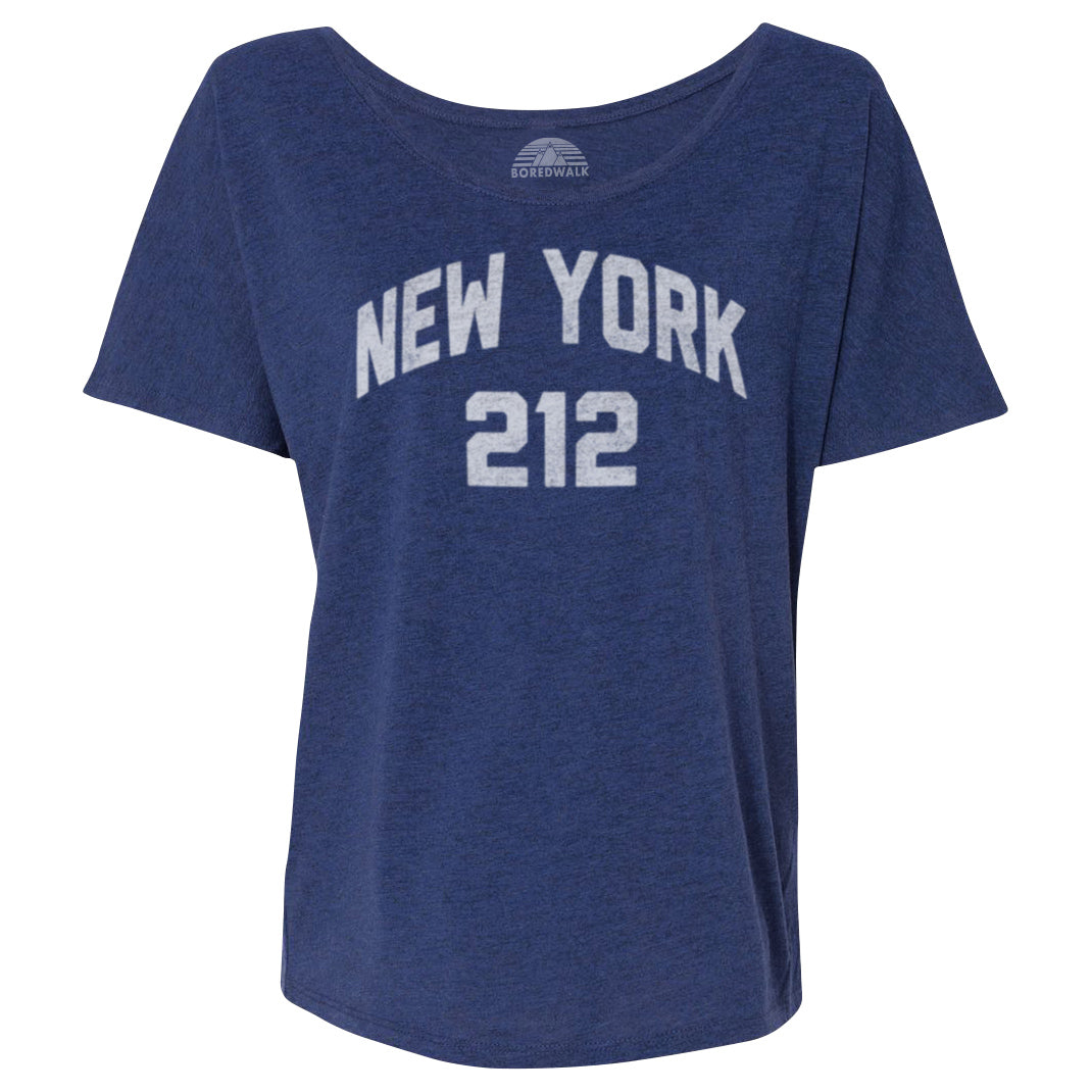 Women's New York City 212 Area Code Scoop Neck T-Shirt