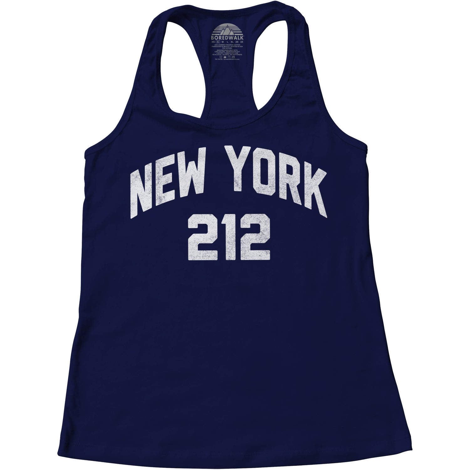 Women's New York City 212 Area Code Racerback Tank Top