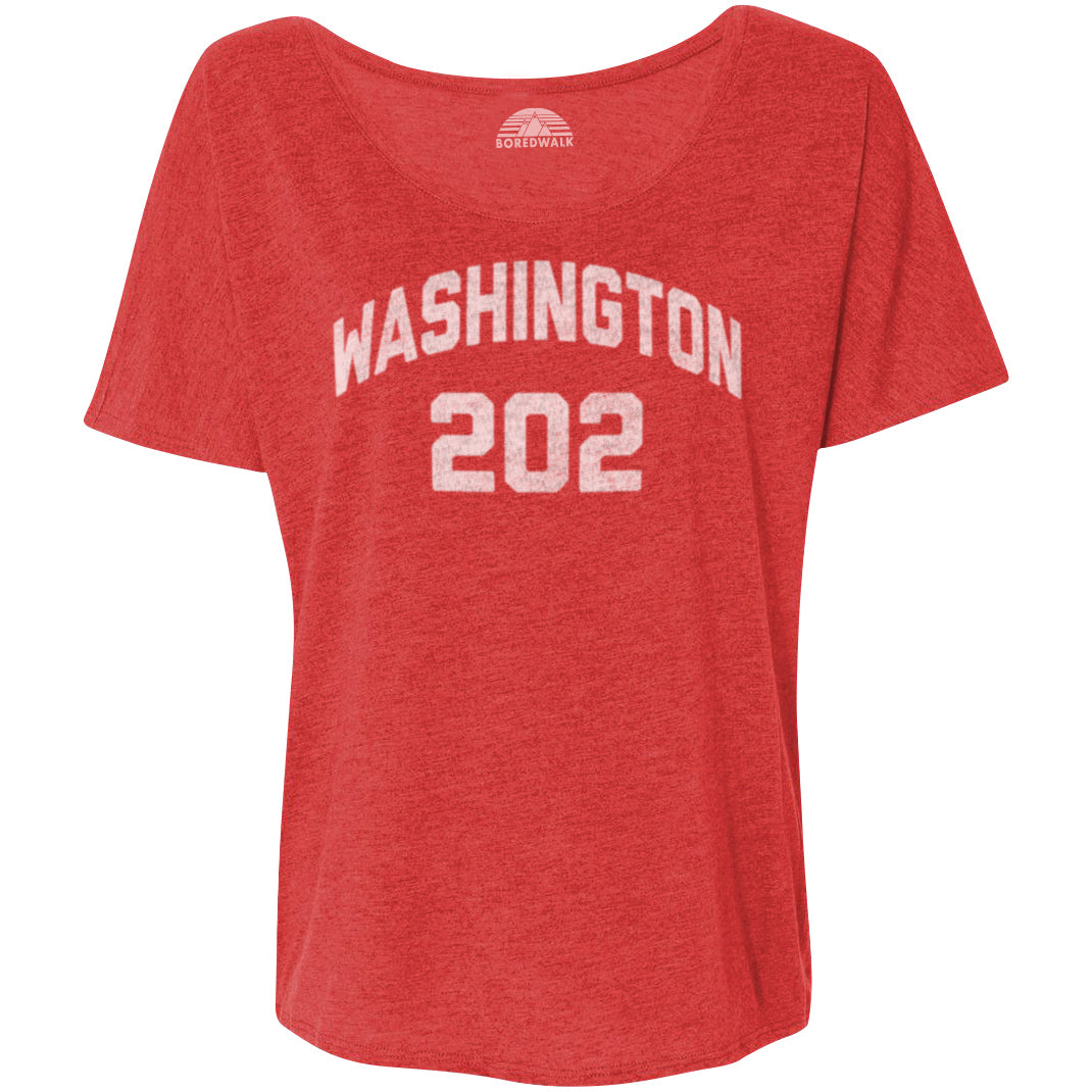 Women's Washington DC 202 Area Code Scoop Neck T-Shirt