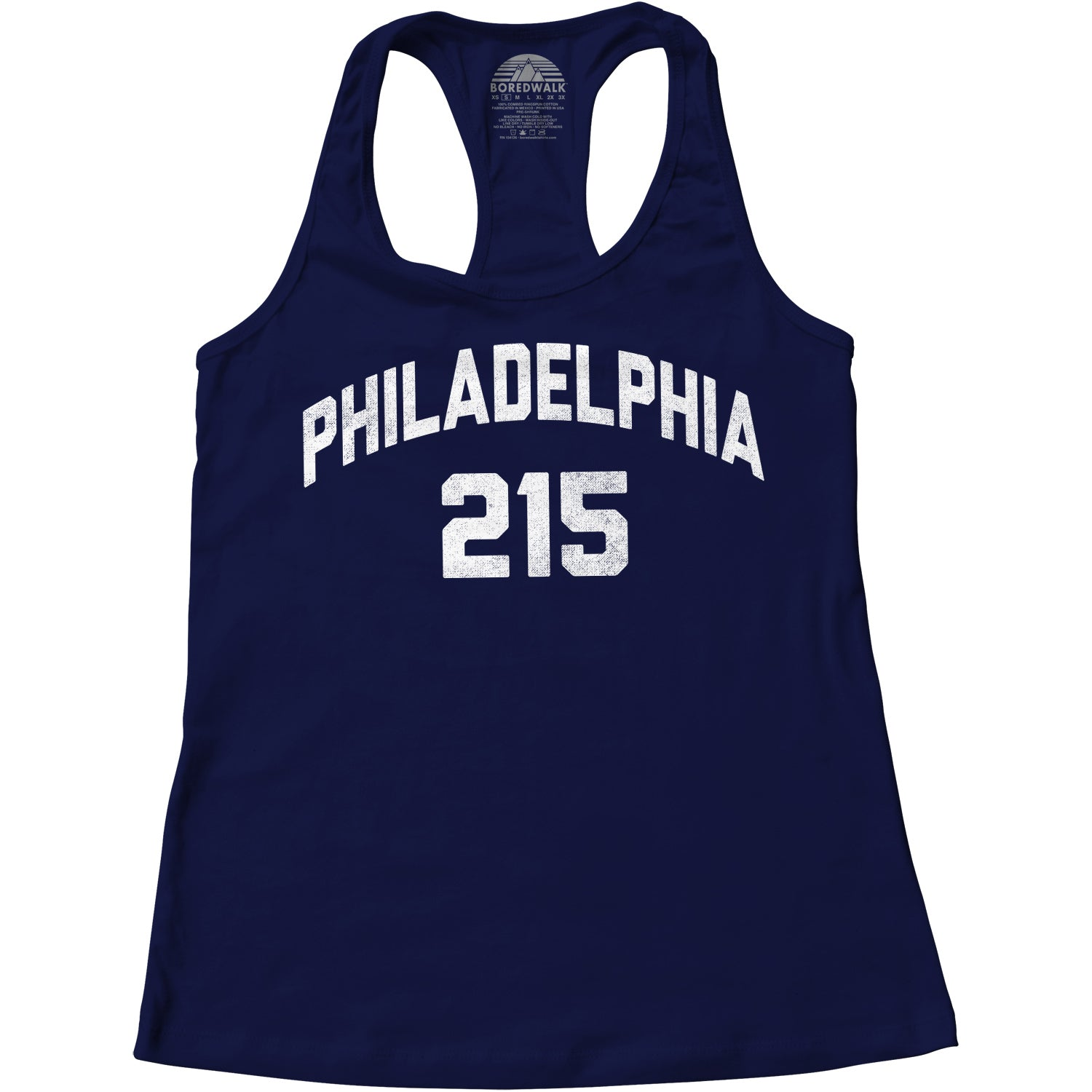Women's Philadelphia 215 Area Code Racerback Tank Top