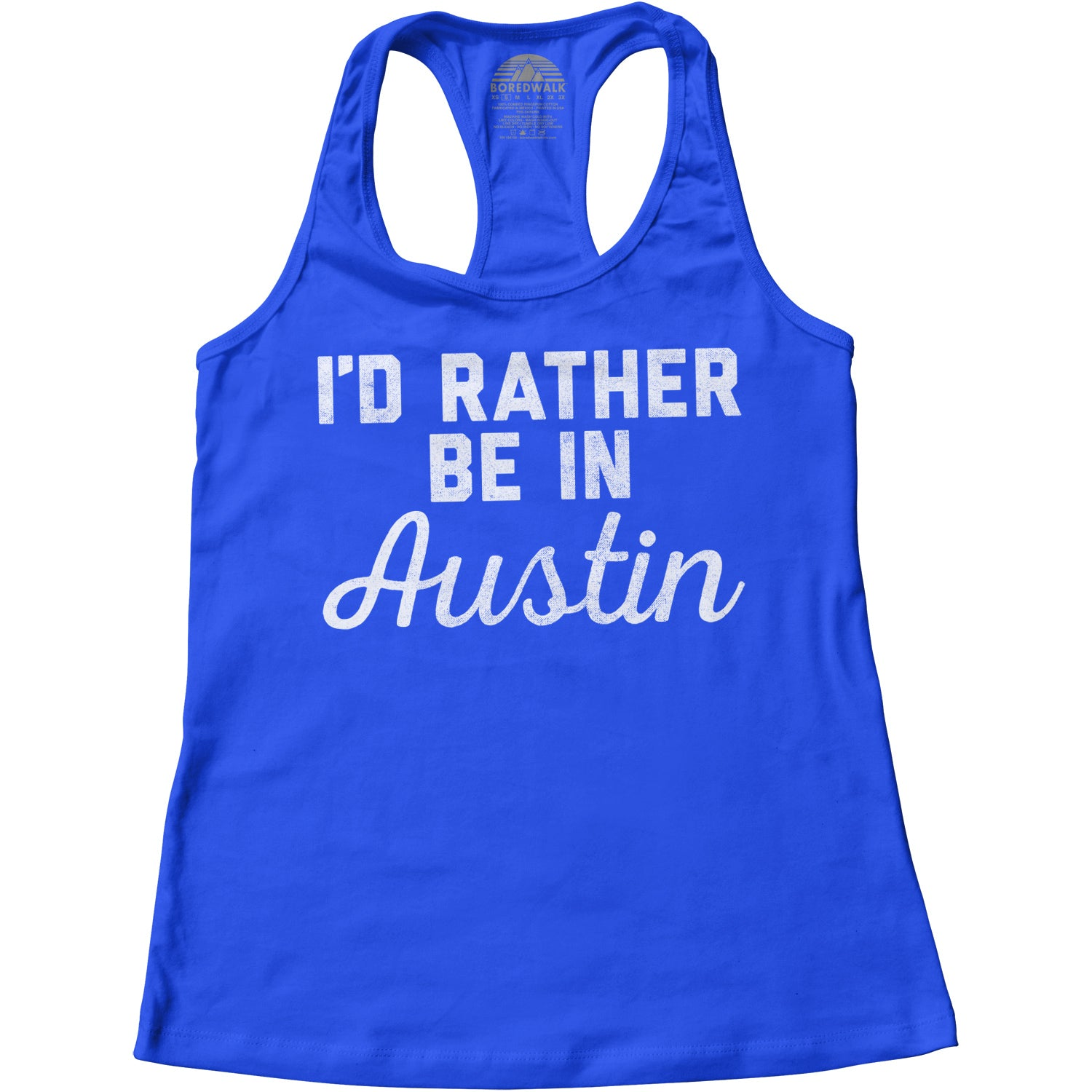 Women's I'd Rather Be in Austin Racerback Tank Top