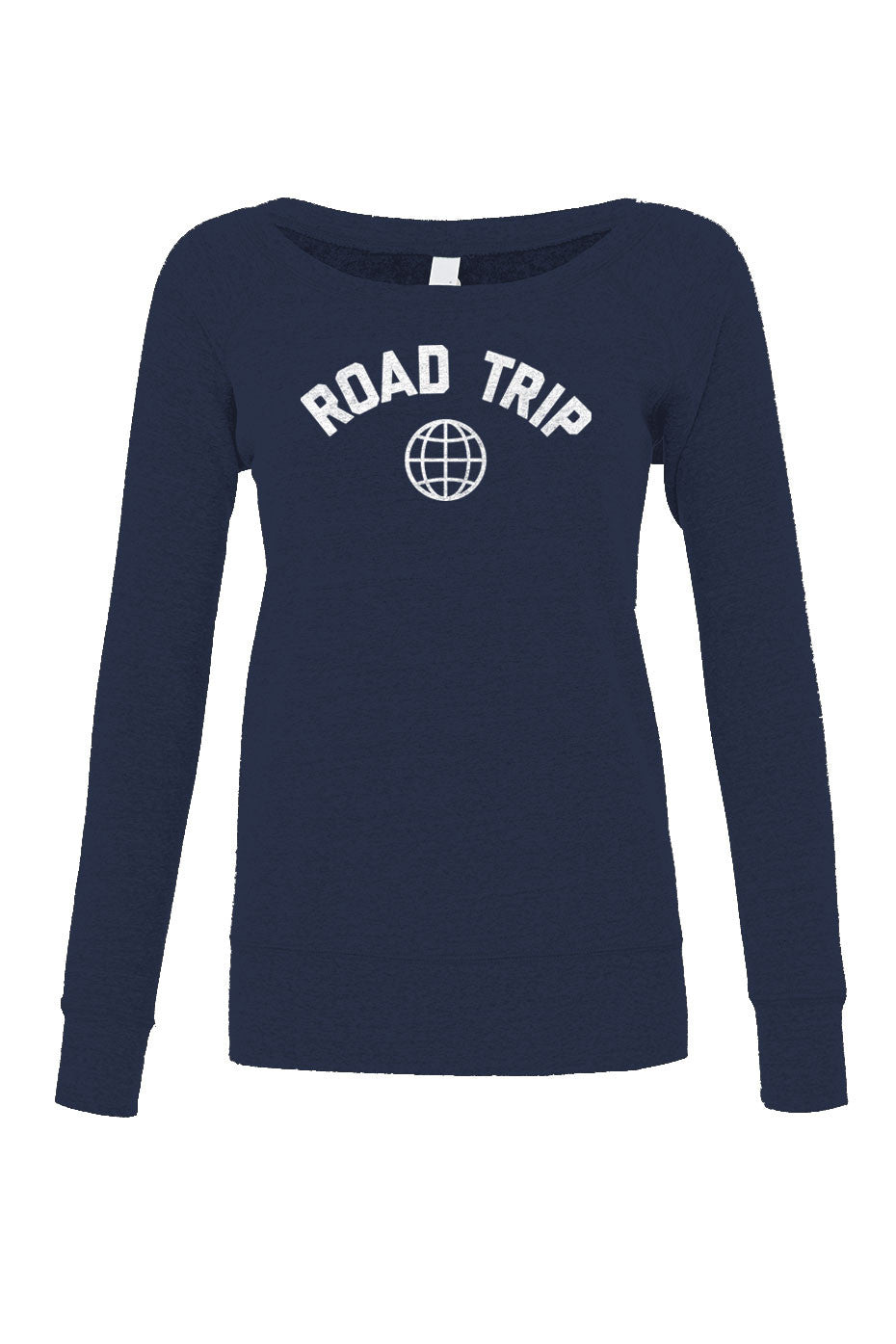 Women's Road Trip Scoop Neck Fleece Retro Athletic Travel