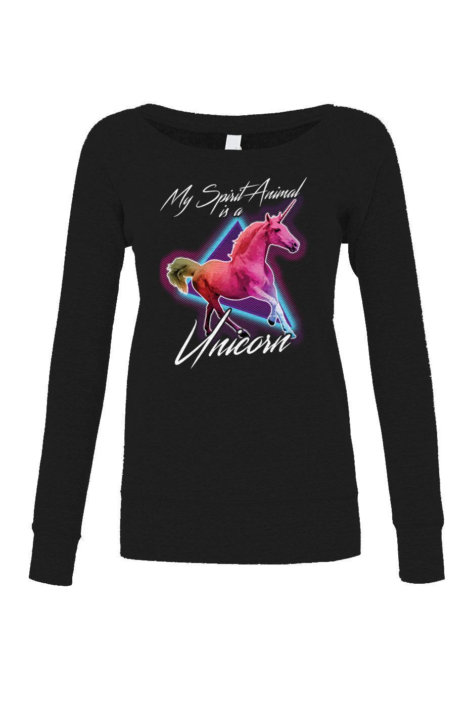 Women's My Spirit Animal is a Unicorn Scoop Neck Fleece