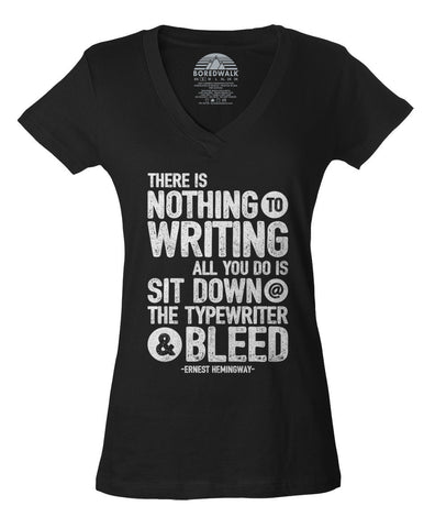 Women's There's Nothing to Writing Vneck T-Shirt