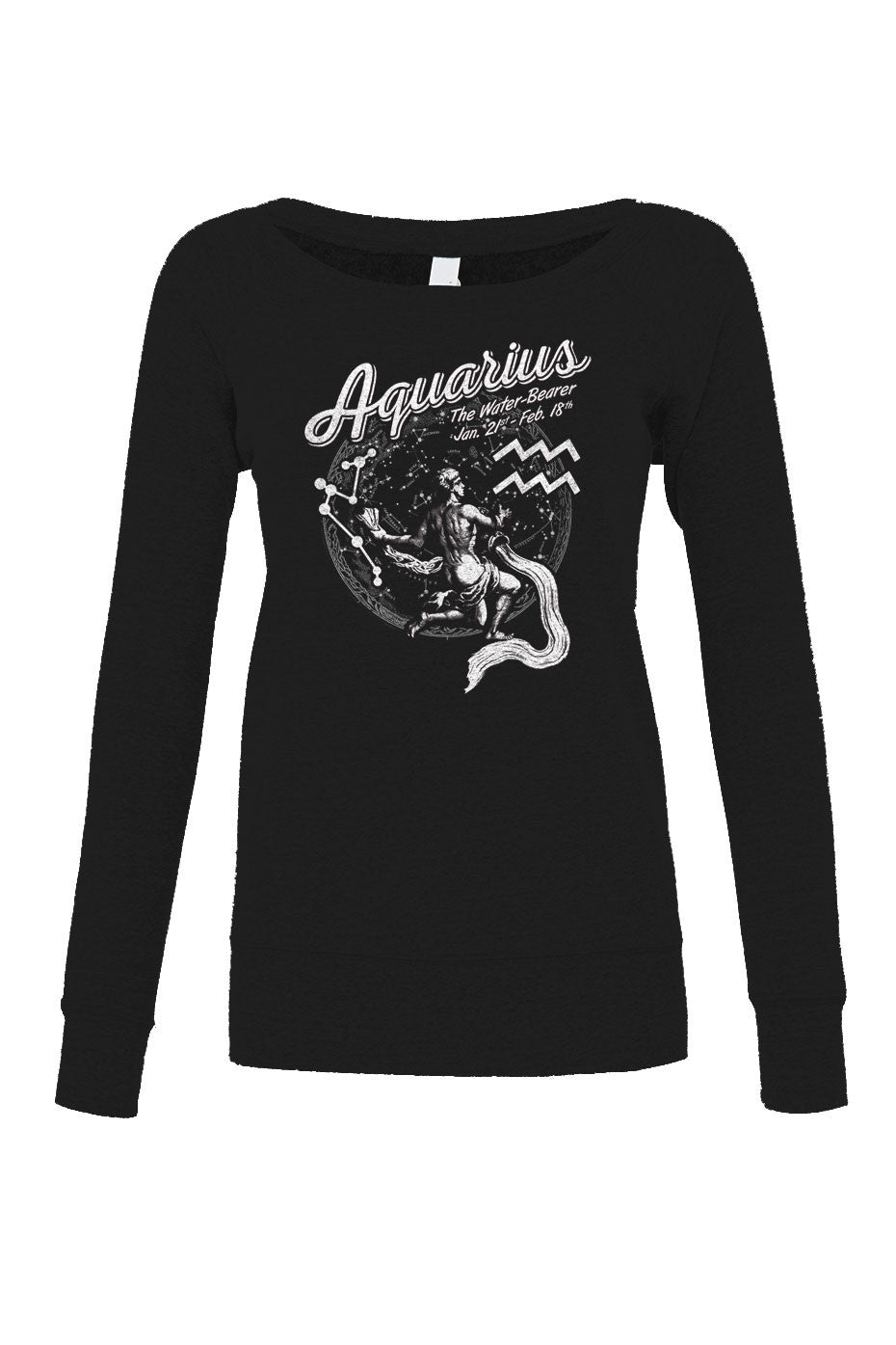 Women's Vintage Aquarius Scoop Neck Fleece - Juniors Fit