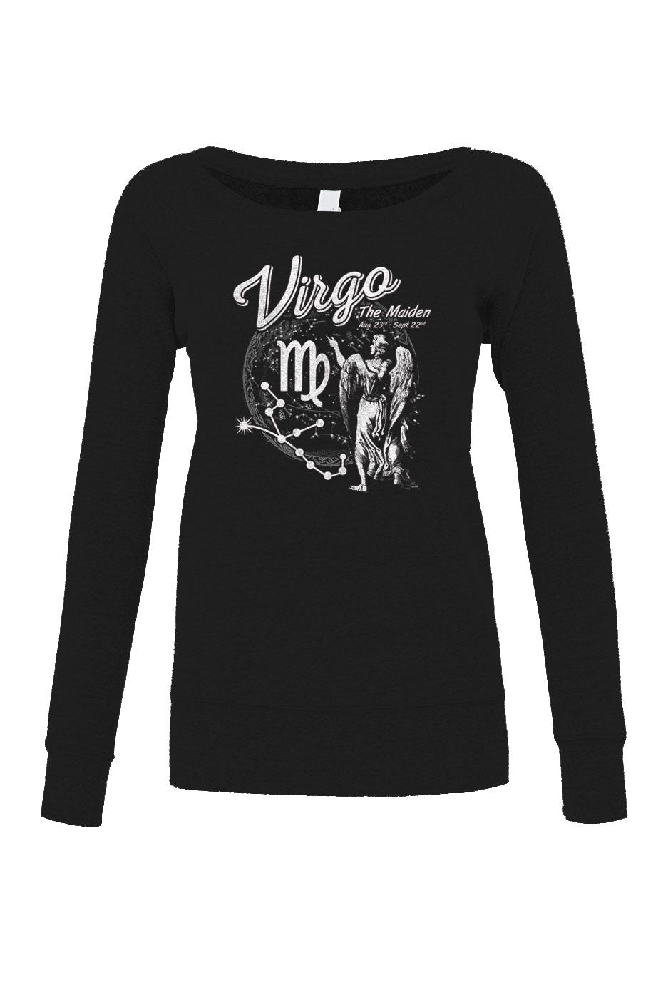 Women's Vintage Virgo Scoop Neck Fleece - Juniors Fit
