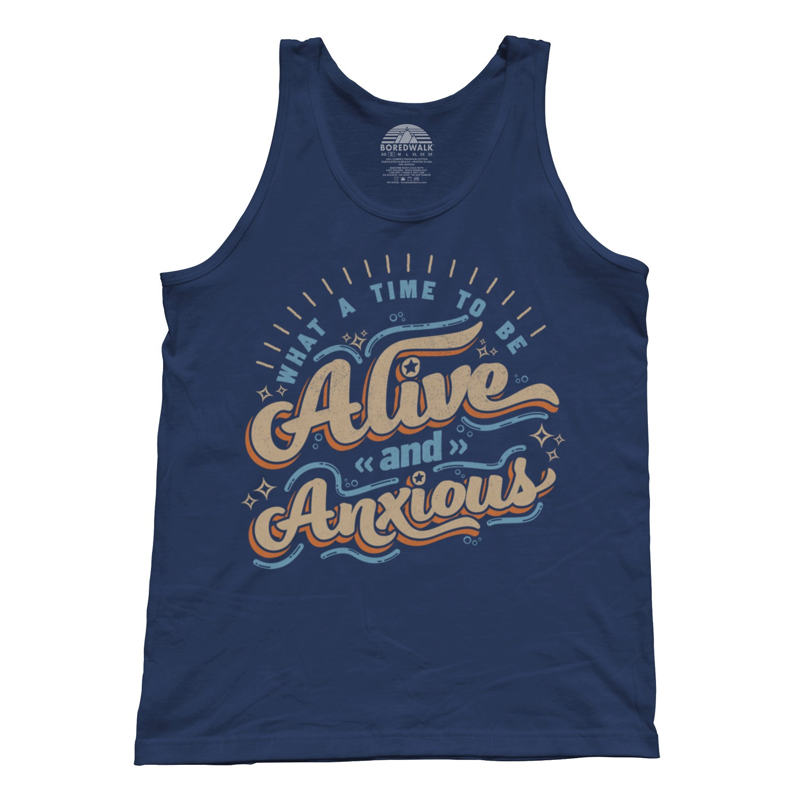 Unisex What a Time to be Alive and Anxious Tank Top