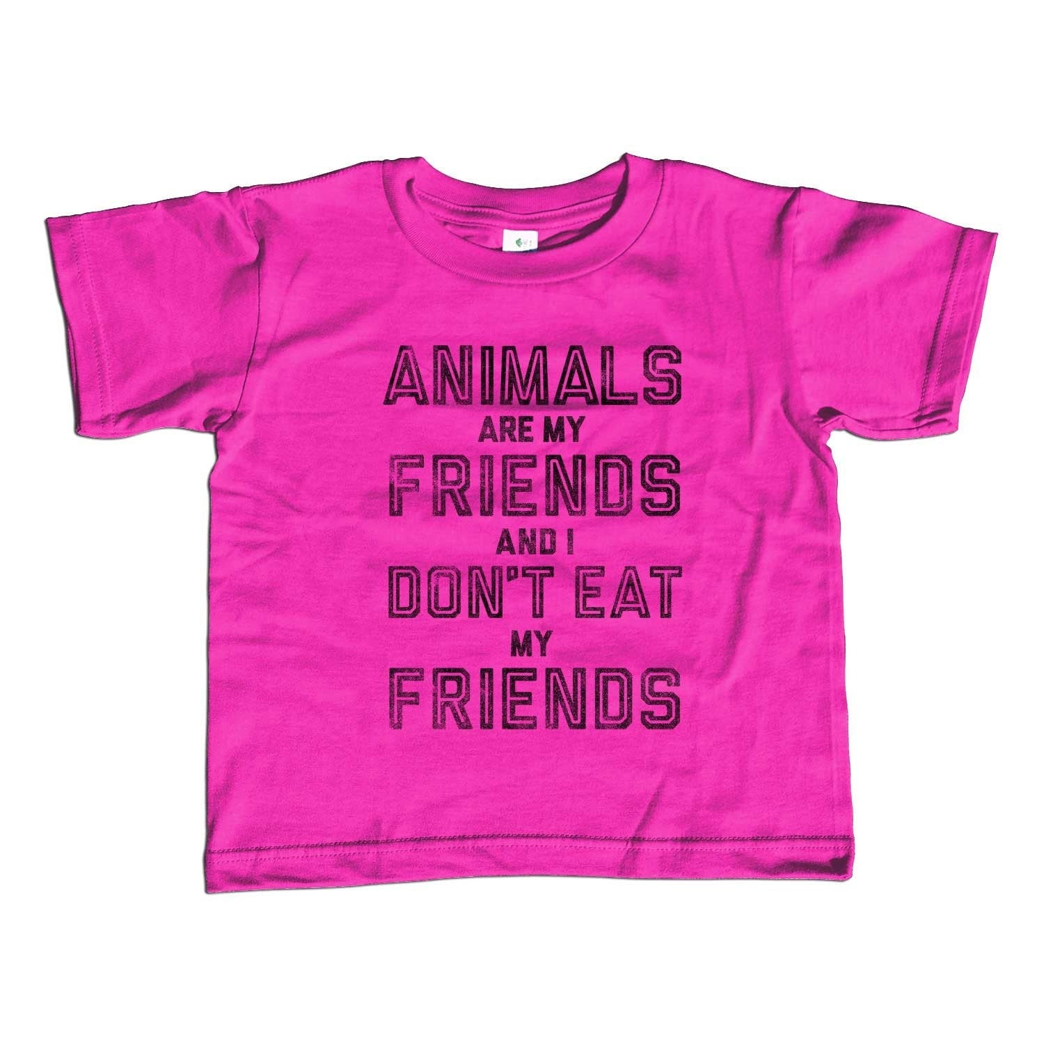 a8e5a0d6 Girl's Animals Are My Friends and I Don't Eat My Friends T-Shirt - Uni –  Boredwalk