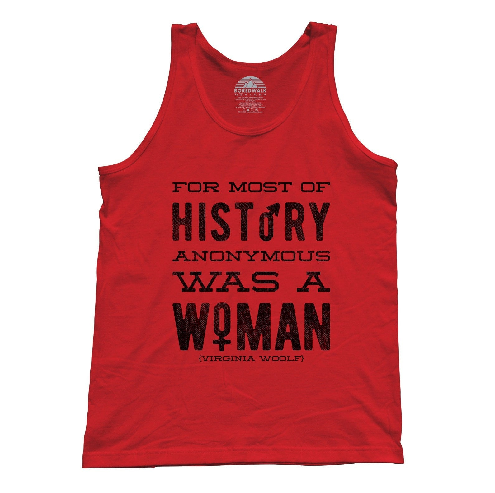 Unisex For Most of History Anonymous Was a Woman Tank Top