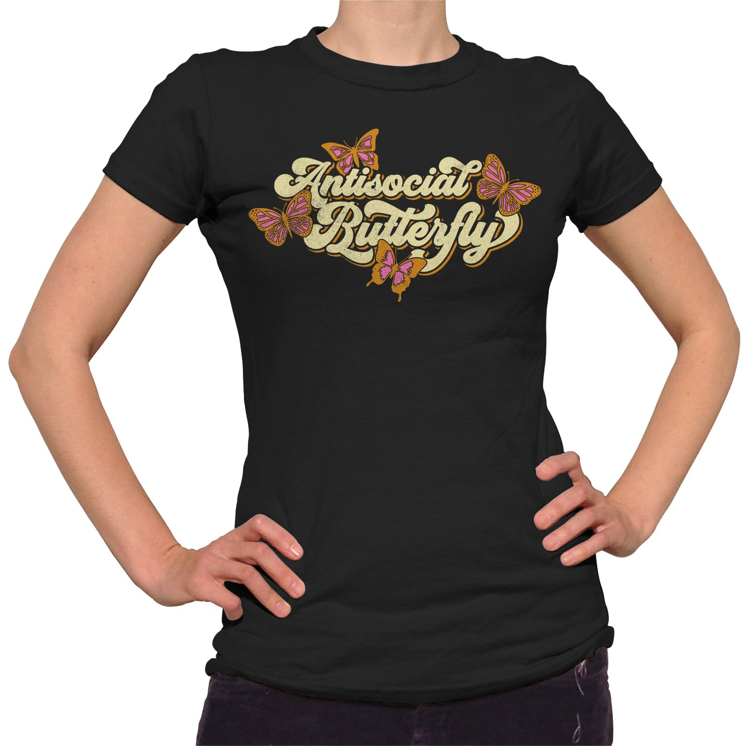 Women's Antisocial Butterfly T-Shirt