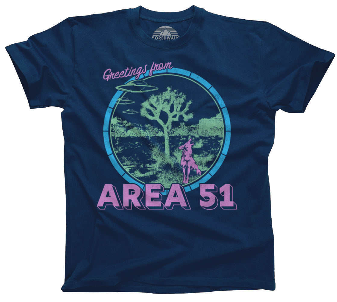 Men's Greetings from Area 51 T-Shirt