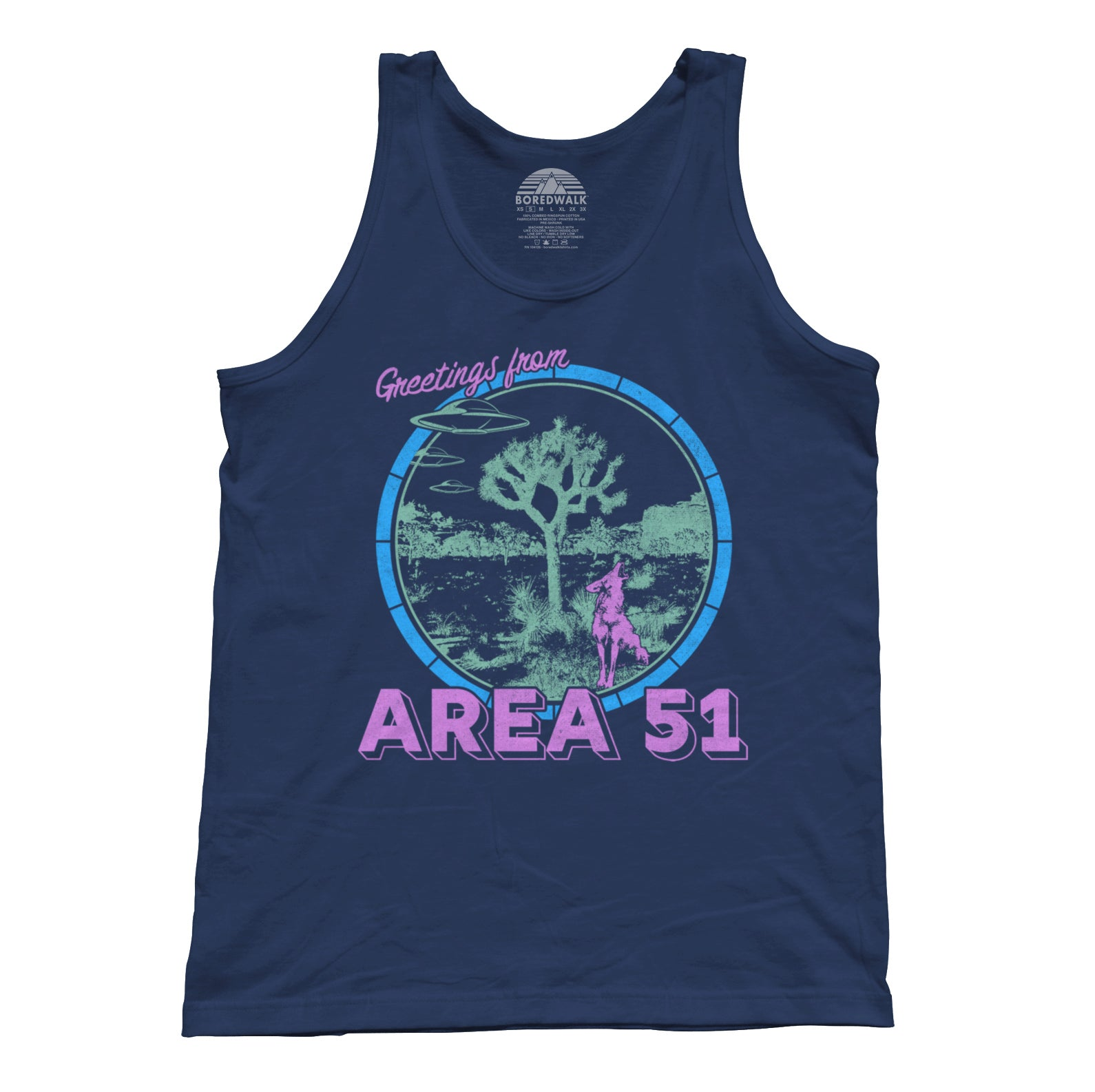 Unisex Greetings from Area 51 Tank Top