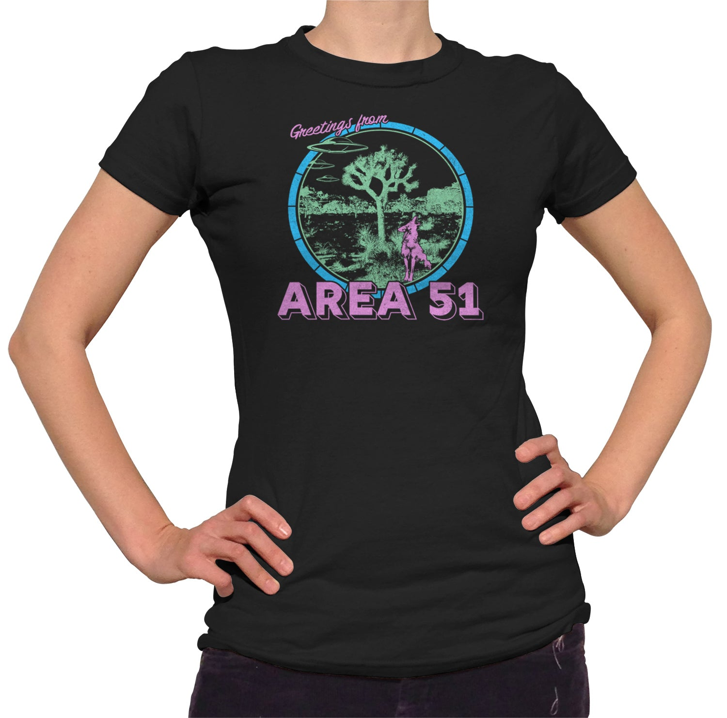 Women's Greetings from Area 51 T-Shirt