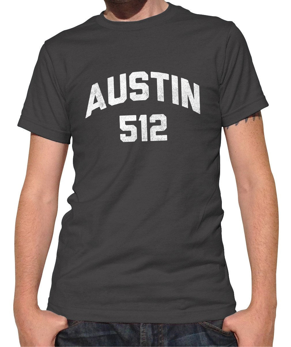 Men's Austin 512 Area Code T-Shirt