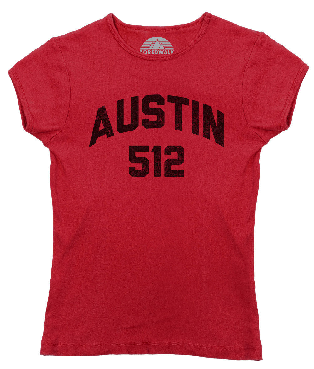Women's Austin 512 Area Code T-Shirt