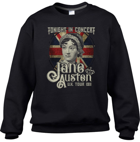 Jane Austen Rock and Roll UK Tour Sweatshirt - Unisex Fit