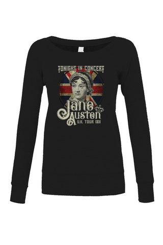 Women's Jane Austen Rock and Roll UK Tour Scoop Neck Fleece - Juniors Fit
