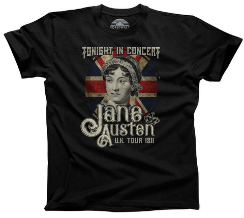 Men's Jane Austen Rock and Roll UK Tour T-Shirt
