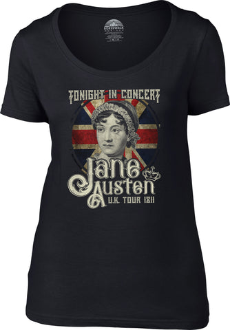 Women's Jane Austen Rock and Roll UK Tour Scoop Neck Shirt