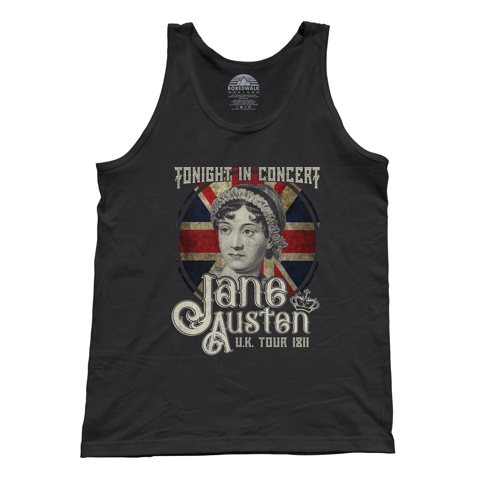 Unisex Jane Austen Rock and Roll UK Tour Tank Top