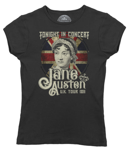 Women's Jane Austen Rock and Roll UK Tour T-Shirt - Juniors Fit