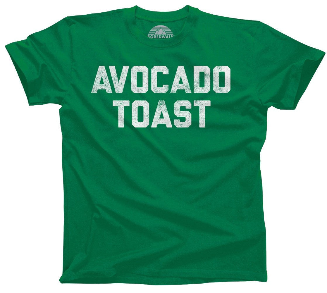 Men's Avocado Toast T-Shirt Funny Hipster Foodie