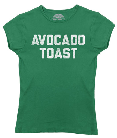 Women's Avocado Toast T-Shirt Funny Hipster Foodie